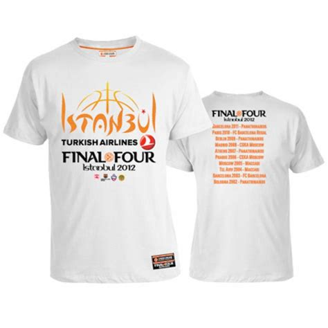 Tshirt Turkish Airlines f4 istanbul official t shirt white euroleaguestore net