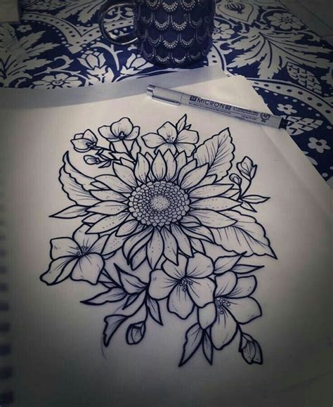 sunflower tattoo ideas 25 best ideas about flower designs on