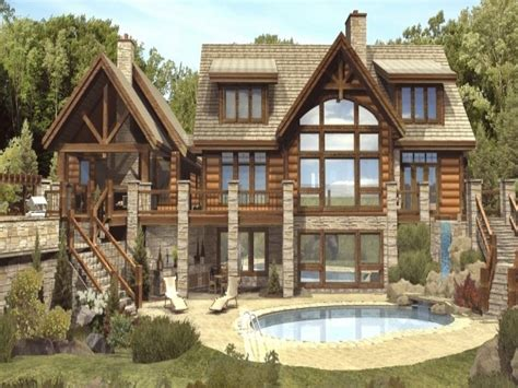 luxury mountain log homes luxury log cabin home plans