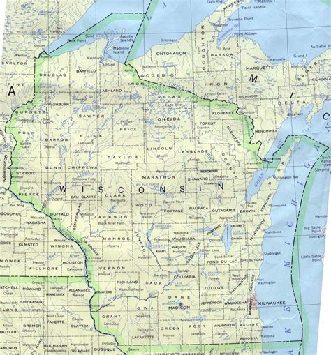 wisconsin map wisconsin base map
