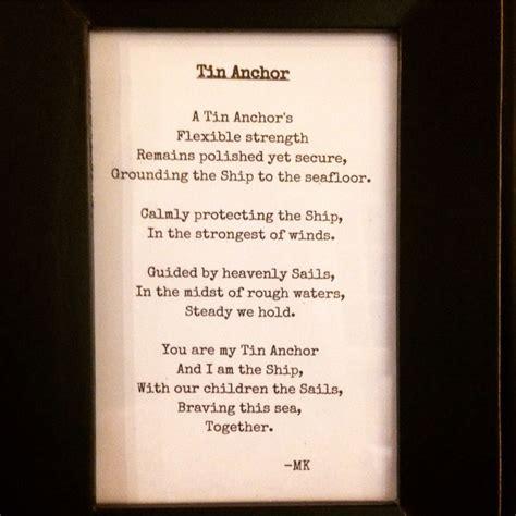 year anniversary poem  years   tin anniversary