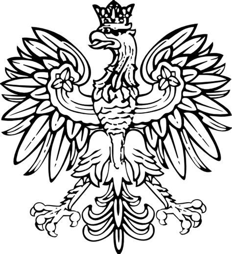 polish eagle coloring page polish eagle clip art at clker com vector clip art