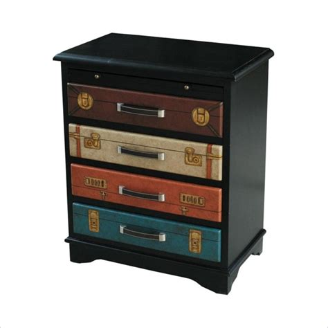 Multi Drawer Chest by 4 Drawer Accent Chest In Black And Multi Color Drawers