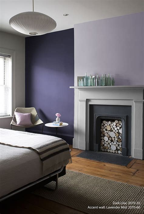 97 lavender accent wall living room rich use of color in this contemporary living room