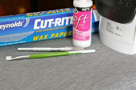 How To Make A Stencil With Wax Paper - fabric patterns a la cart