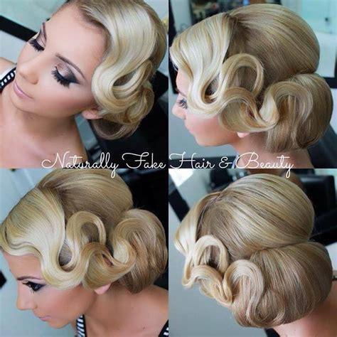 1920 side bun hairstyle elegancka fryzura na wesele fryzury galeria