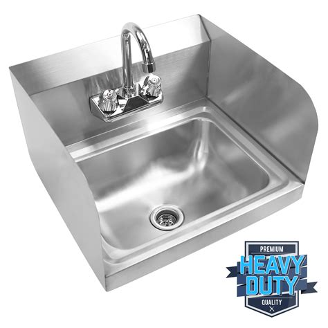 Professional Kitchen Sink Commercial Kitchen Stainless Steel Wall Mount Sink With Side Splashes Ebay
