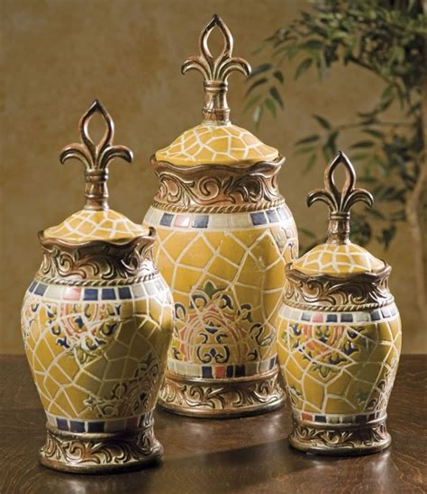 fleur de lis kitchen canisters set of three classy glass polystone fleur de lis decorative 17 best images about canister sets on pinterest cafe