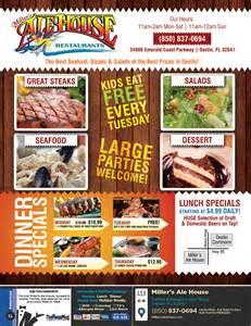 miller s ale house menu coupons the menu mag