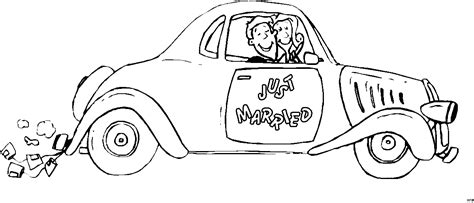 Just Married Auto Zum Ausdrucken by Just Married Auto Ausmalbild Malvorlage Comics
