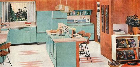 50s Home Decor by Aqua Kitchen 1958 Kitchen Likeness Vintage