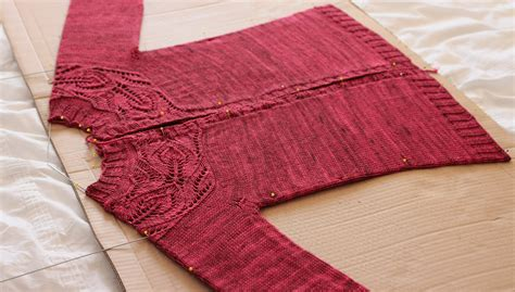 how do you block knitting so you want to knit a sweater stitch and unwind