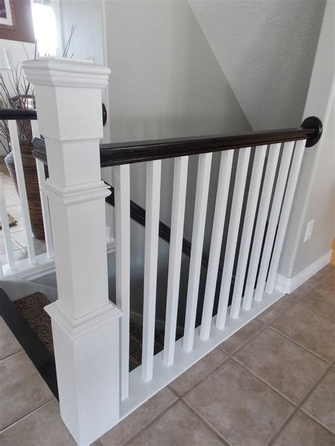 banister pole banister pole remodelaholic stair banister renovation using existing