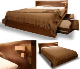 Bed Frame Designs Wood Rustic Modern Comfortable Wooden Bed Frame Design