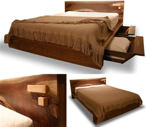 Wood Bed Frame Design Rustic Modern Comfortable Wooden Bed Frame Design