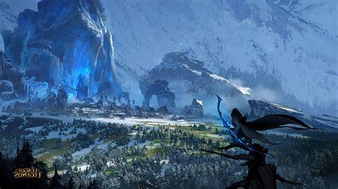 League Of Legends Landscape Wallpaper bows ruin landscape ashe league of legends wallpapers