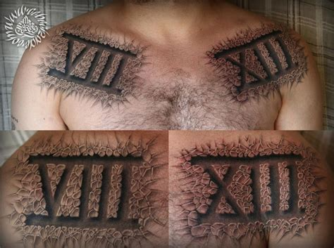 image gallery numerals 1 10 tattoo