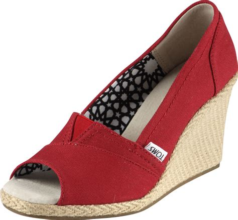 toms wedges canvas w shoes
