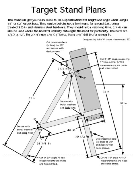 archery bow stand plans fita target stand plans archerytargets