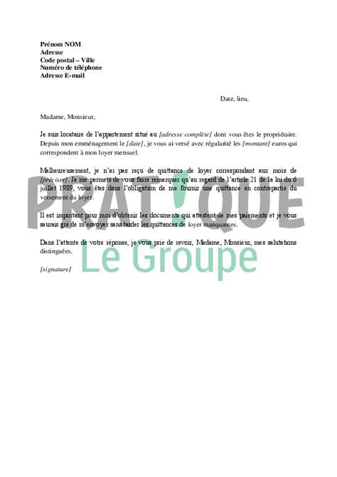 Exemple Lettre De Quittance Emploi Lettre De Demande De Quittance 224 Propri 233 Taire Pratique Fr