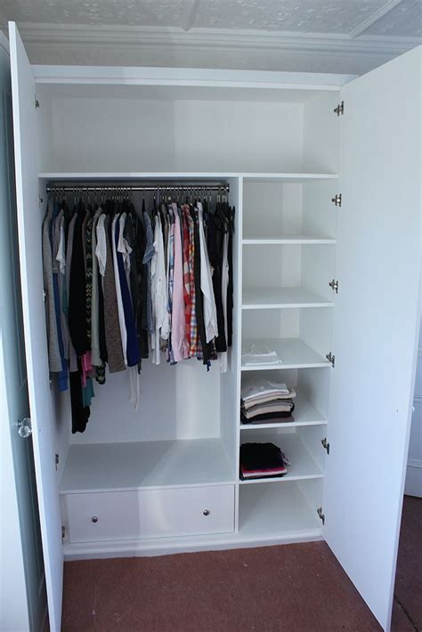 Small Wardrobe With Shelves 25 Best Ideas About Built In Wardrobe On Wall