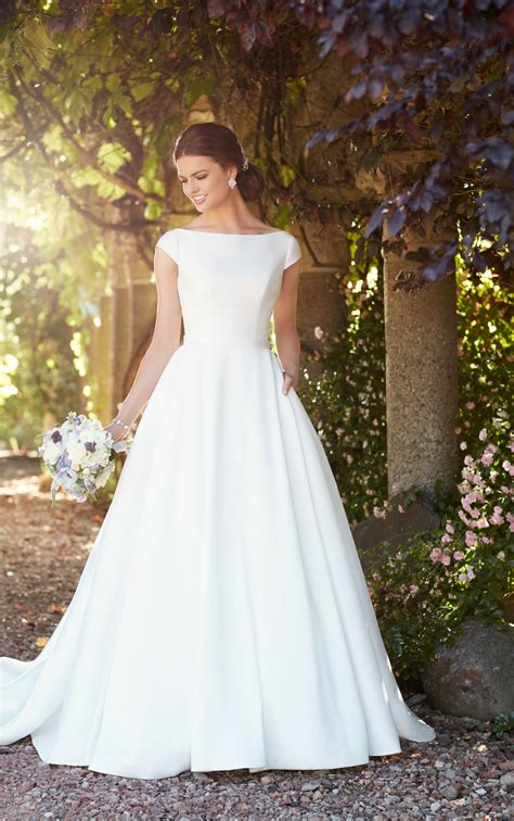 wedding gowns with sleeves modest wedding dress with sleeves essense of australia