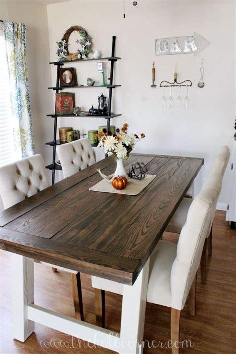 diy farmhouse style dining table diy dining table