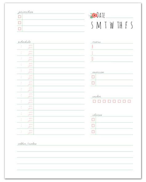 free printable household notebook planner pages daily planner fab n free