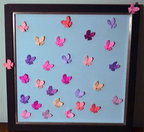 Origami Butterfly Wall - soaring origami butterfly wall allfreepapercrafts