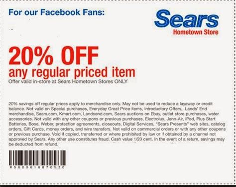 Coupon Calendario Sears Printable Coupons August 2015