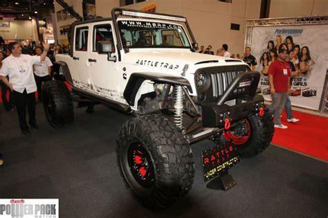 jeep rattle rattle trap jeep at sema 2011 cummins jeep mods