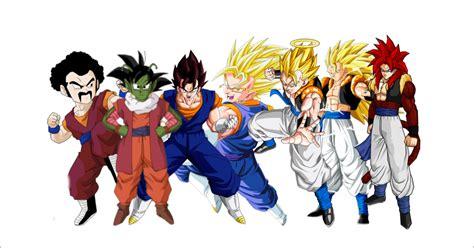 Imagenes De Goku Todas Las Fusiones | goku fusiones by overkillborjack on deviantart