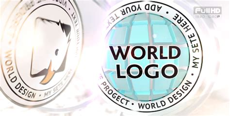3d Globe Logo Intro 3d Object After Effects Templates F5 Design Com 3d Globe After Effects Template