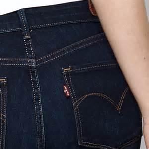 jean levis femme demi curve coupe droite taille haute