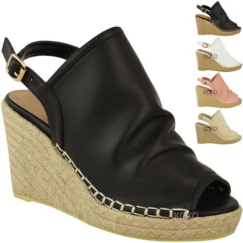 27 Coolest Platform Shoes For Summer 2009 by New Womens Espadrille Wedge Sandals Platforms Low
