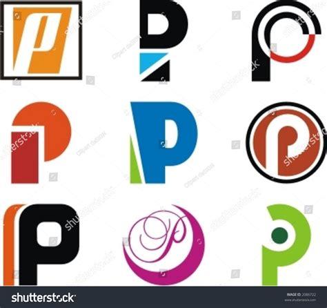 design logo huruf f alphabetical logo design concepts letter p stock vector