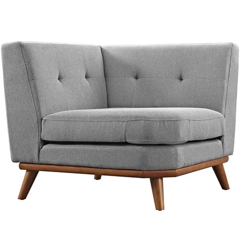 tufted gray sofa engage modern button tufted upholstered corner sofa
