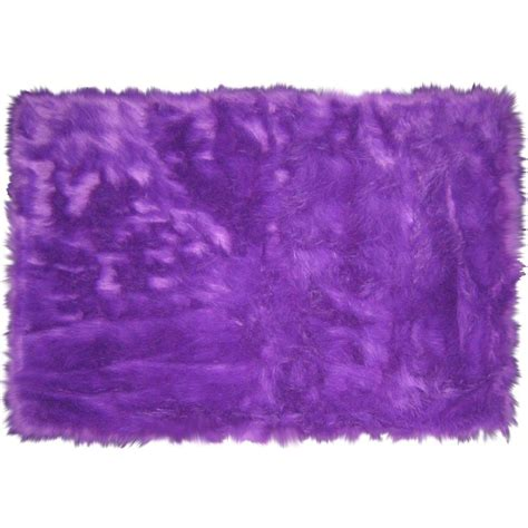 La Rugs Flokati Purple Shag Rug Flk 009 Purple Rug