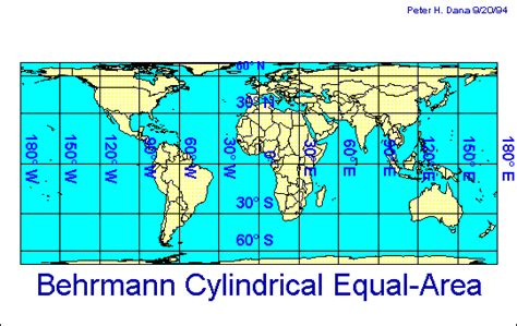 map projection definition define cylindrical projection map