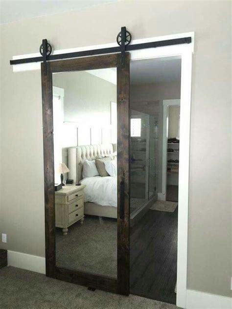 modern door mirrors and doors on pinterest a barn door sliding mirror such a great idea garden ideas pinterest barn doors