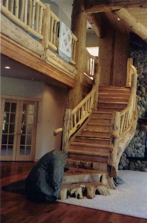 elegant rustic staircase designs  inspire