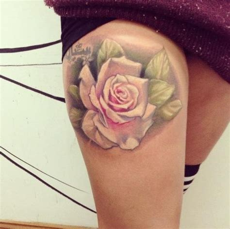 rose thigh tattoos tumblr 32 best envy images on ideas