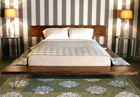 Diy Platform Bed With Metal Legs Industrial Rustic Platform Bed Frame With Metal Legs