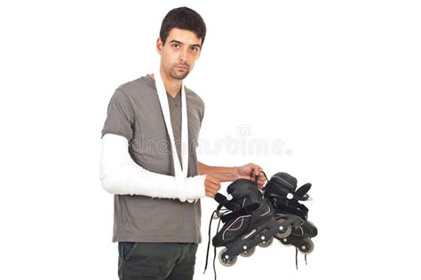 Broken Person Royalty Free Stock Photo Image 10975625 by With Broken Arm Holding Rollerskating Royalty Free
