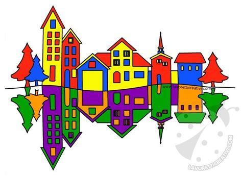 tavola dei colori primari e secondari paesaggio con colori primari e colori secondari
