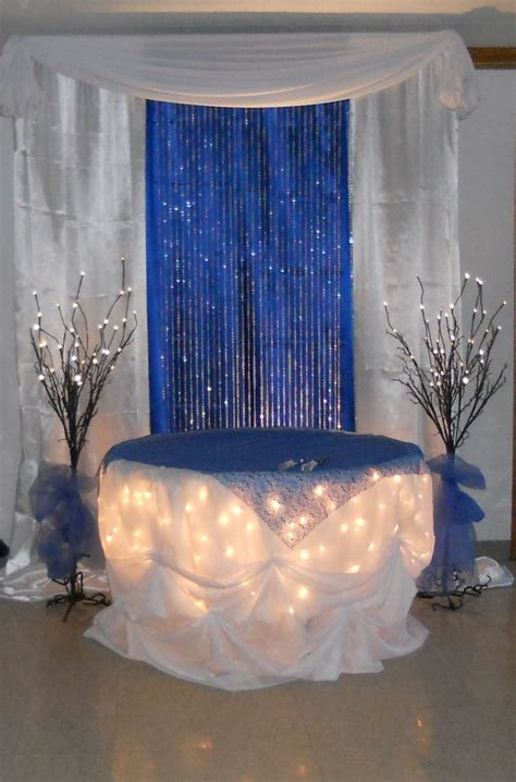 Royal Blue Decorations royal blue cake table by www decorativeessentials net