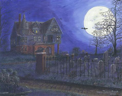 haunted house painting by lori theim busch