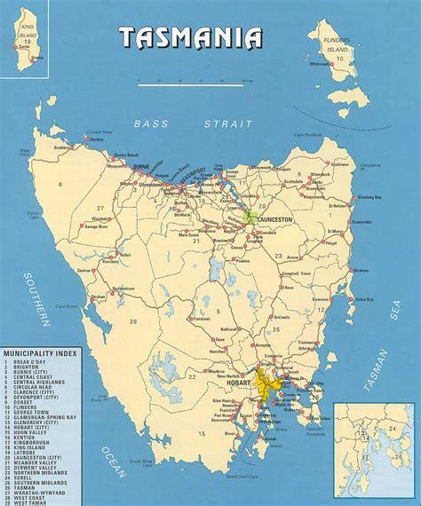 printable road map of tasmania 塔斯马尼亚 图片 互动百科