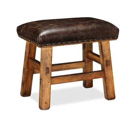 caden leather bench caden nailhead stool