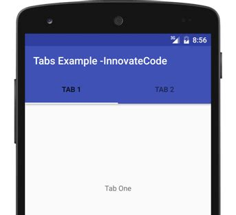 android tabs android tabs exle innovatecode